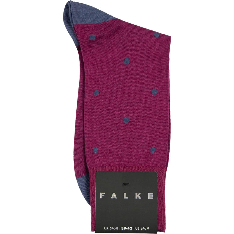 Falke Dot Cotton Sock - Wine - Livingston - Castle Douglas