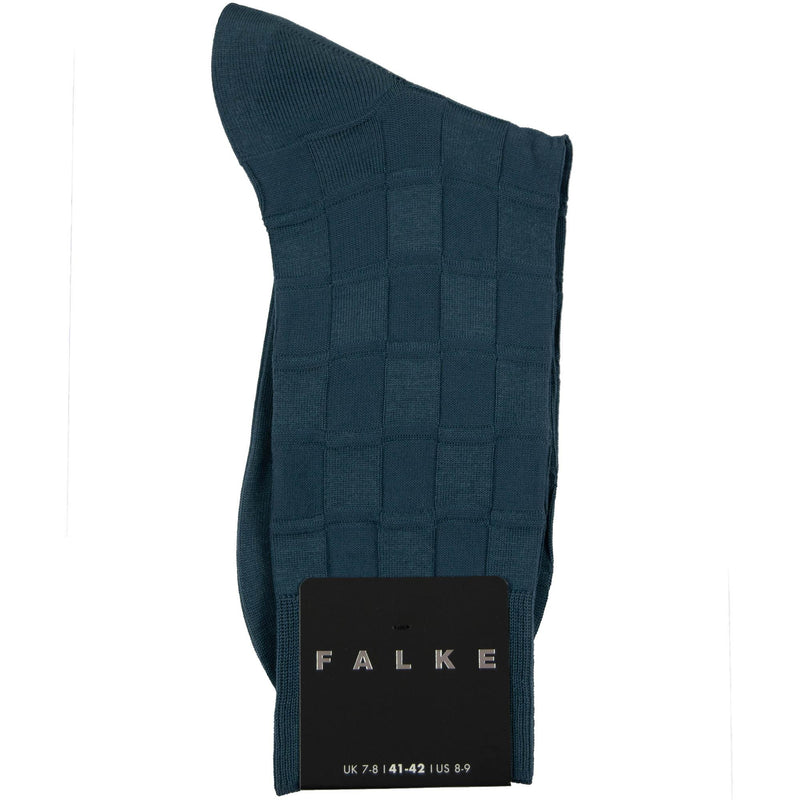 Falke Tonal Chess Cotton Socks - Airforce - Livingston - Castle Douglas