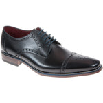 Loake Foley Rubber Sole Shoe - Black
