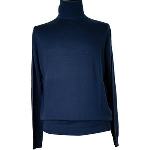 Fynch Hatton Merino Roll Neck Pullover - Admiral