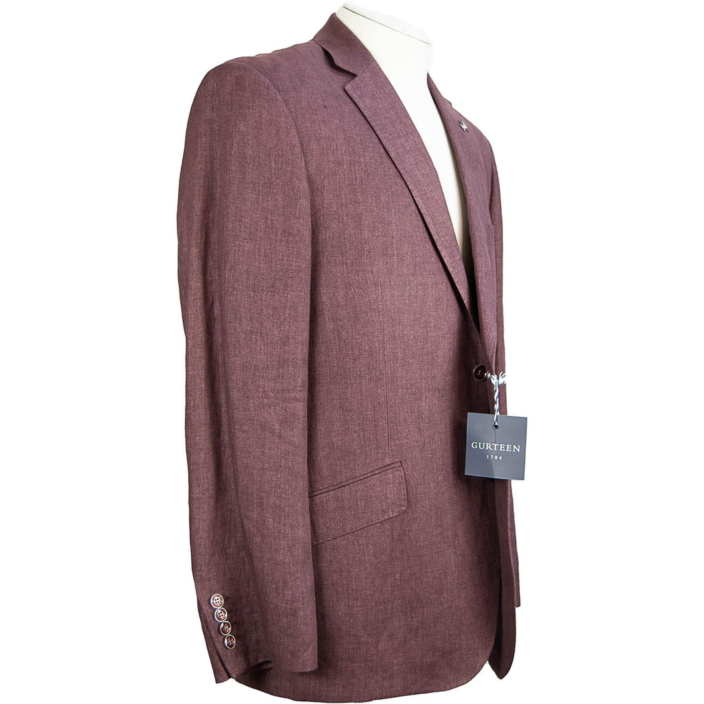 Gurteen Linen Jacket - Cranberry - Livingston - Castle Douglas
