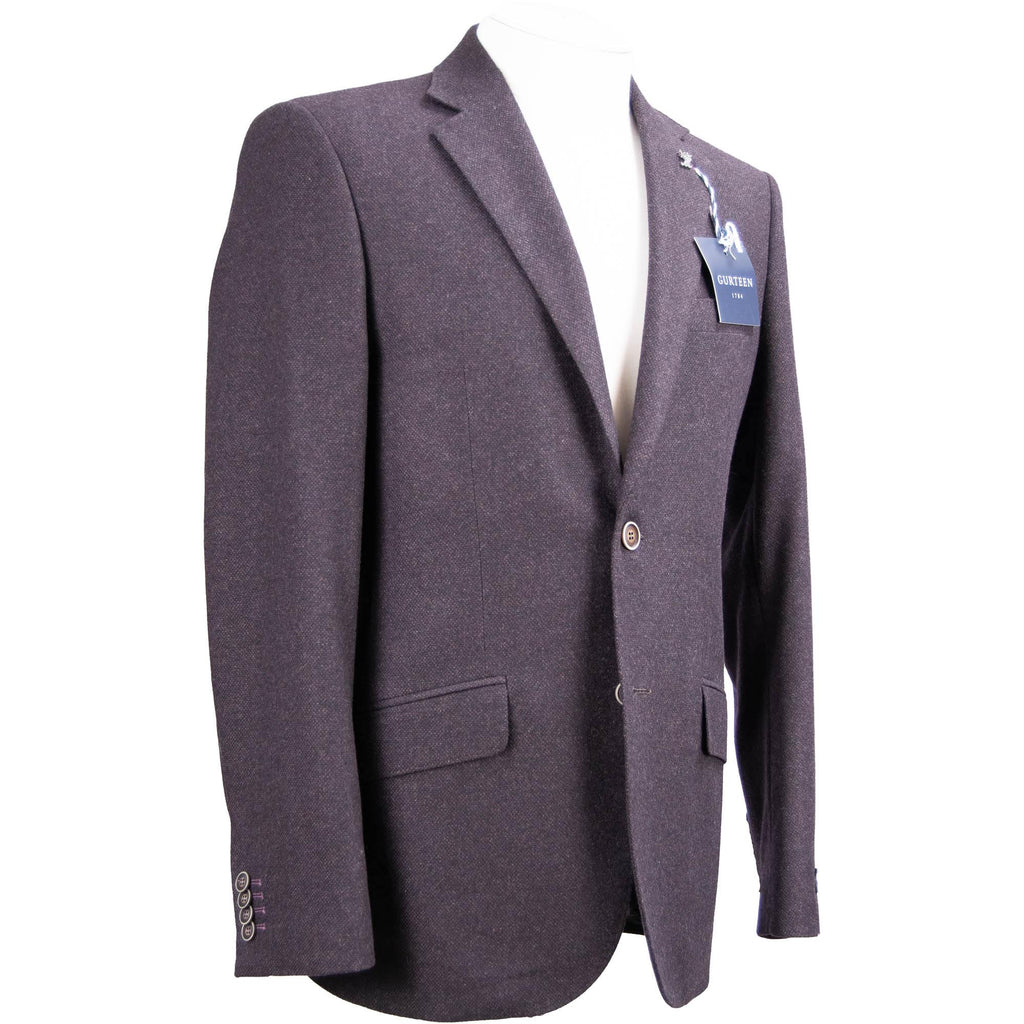 Gurteen Brecon Tweed Jacket - Aubergine - Livingston - Castle Douglas