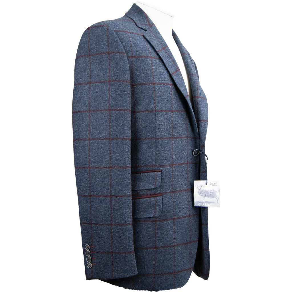 Gurteen Peckham Moons' Tweed Jacket - Navy Window - Livingston - Castle Douglas