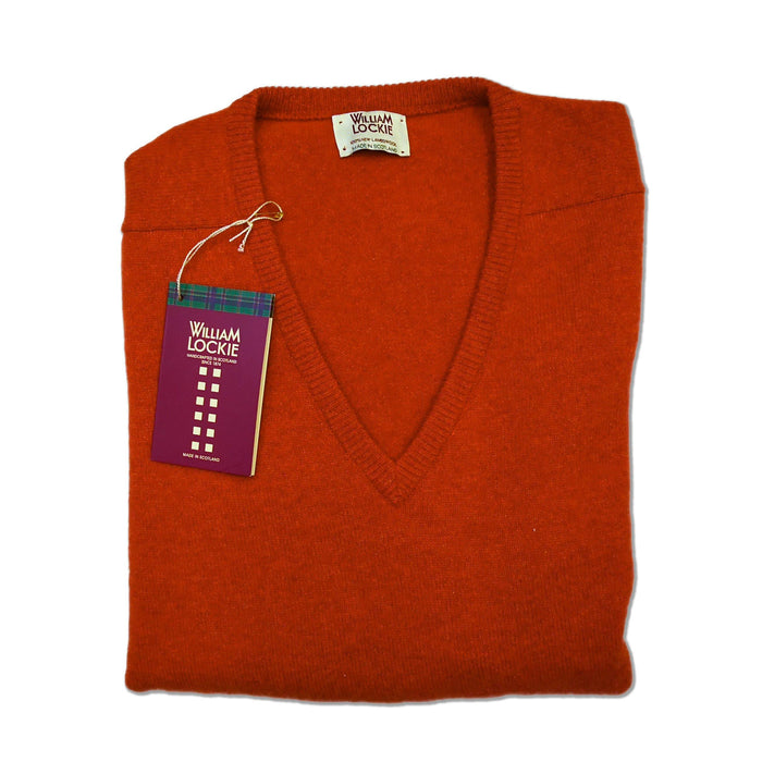 William Lockie Lambswool Pullover Ember