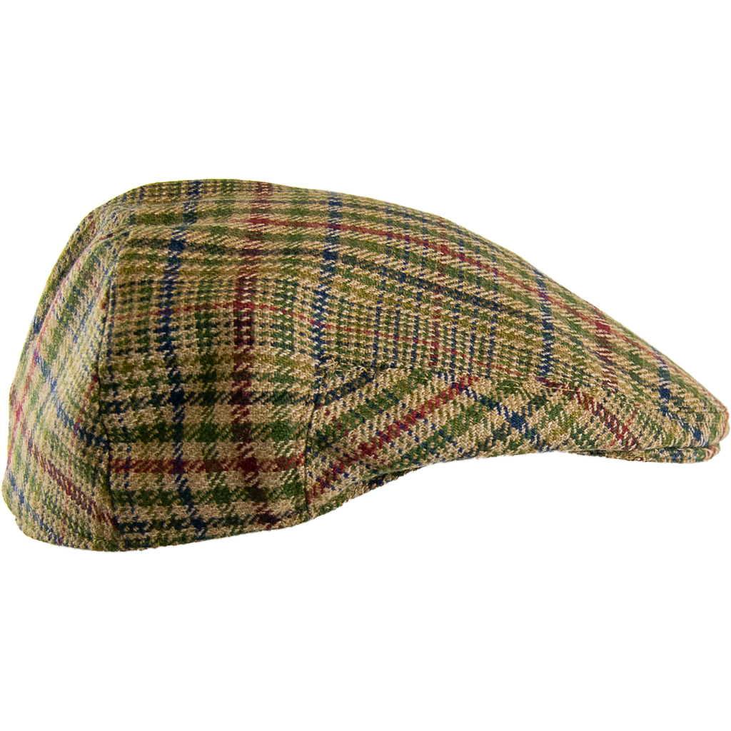 Livingston Tweed Garforth Cap - Multi Check - Livingston - Castle Douglas