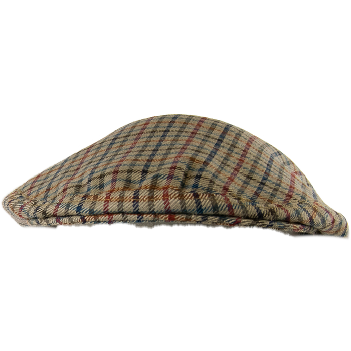Livingston Lightweight Garforth Cap - Fawn Check - Livingston - Castle Douglas