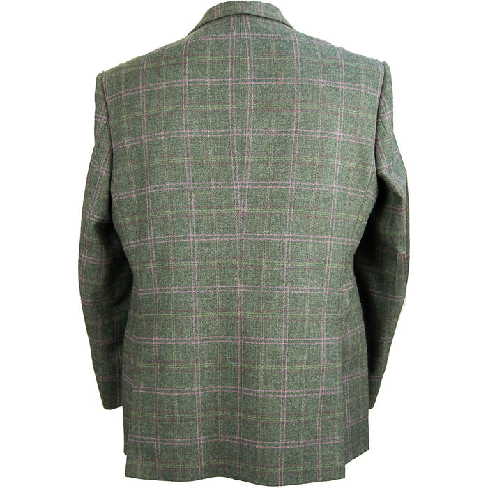 Livingston Tweed Limited Edition Window Check Jacket - Fern