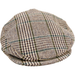 Livingston Tweed Cap - Brown / Fawn Multi Check - Livingston - Castle Douglas