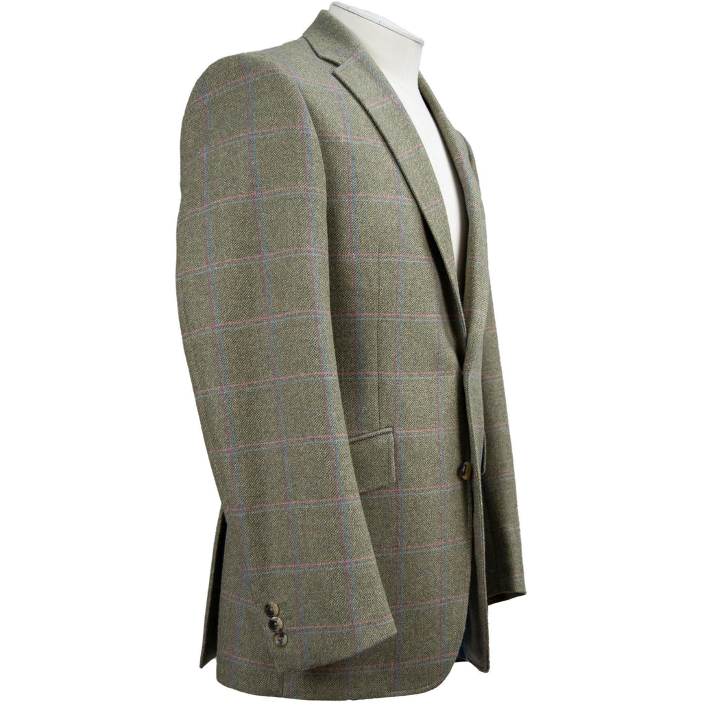 Livingston Lovat Tweed Limited Edition Window Check Jacket - Sage - Livingston - Castle Douglas