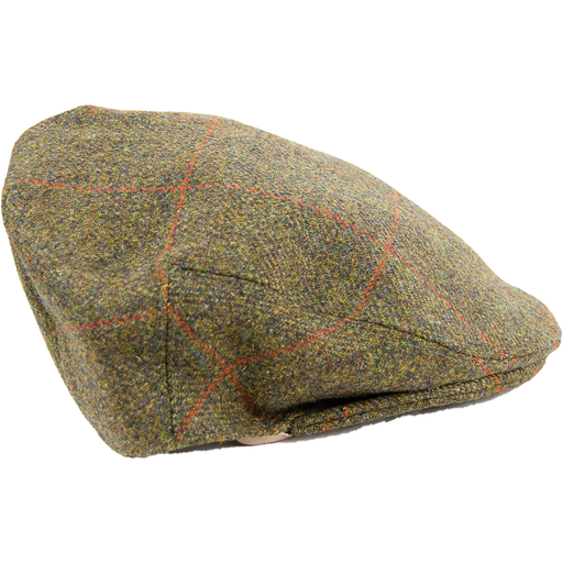 Limited Edition Tweed Cap - Brown /Red Check