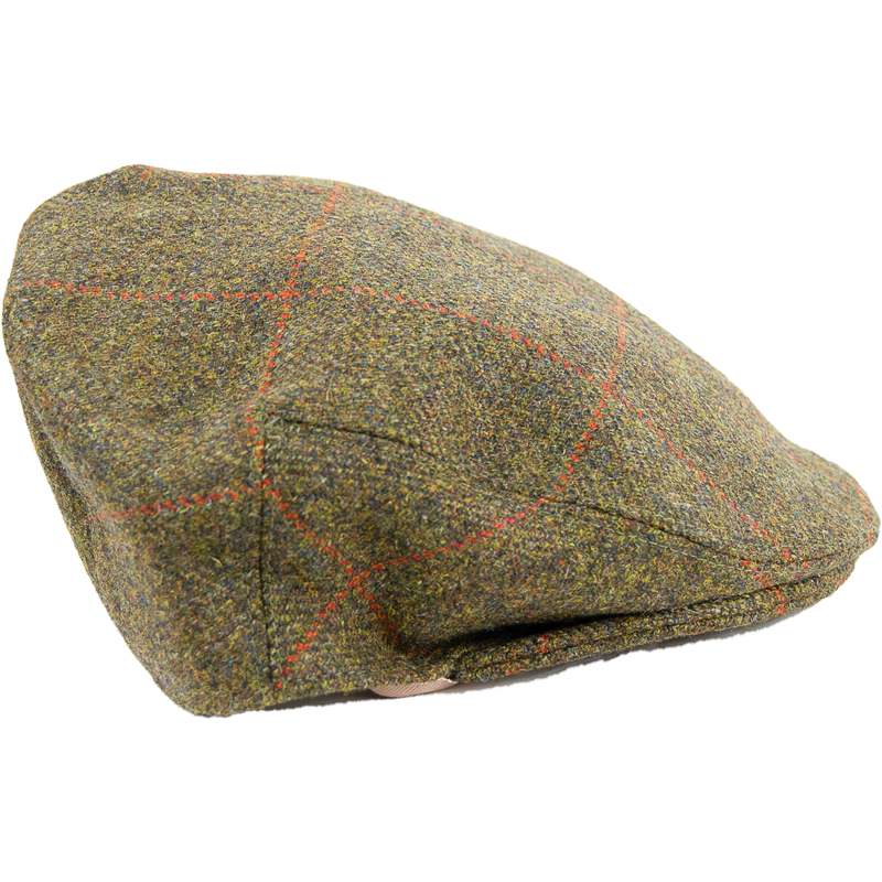 Limited Edition Tweed Cap - Brown /Red Check - Livingston - Castle Douglas