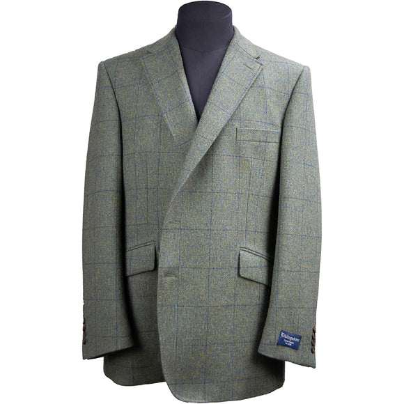 Livingston Tweed Limited Edition Window Check Jacket - Moss