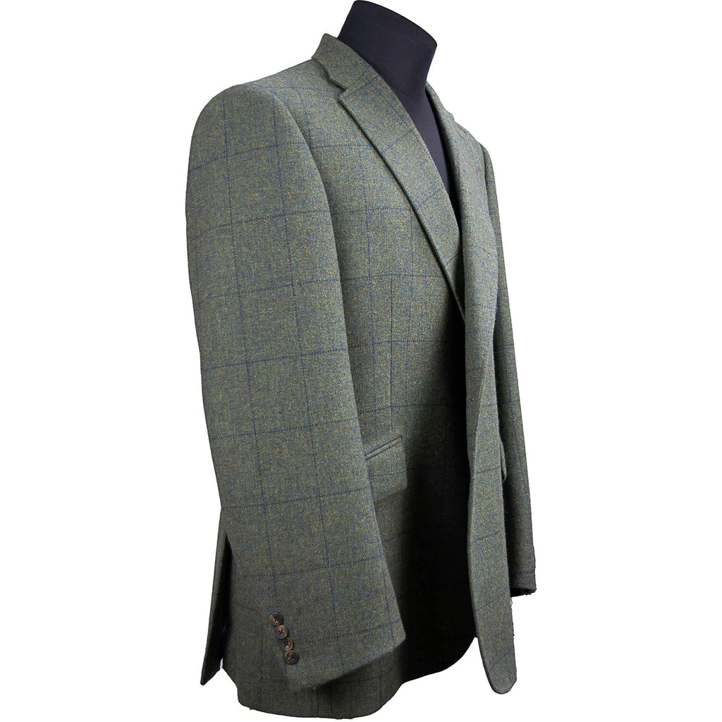 Livingston Tweed Limited Edition Window Check Jacket - Moss - Livingston - Castle Douglas