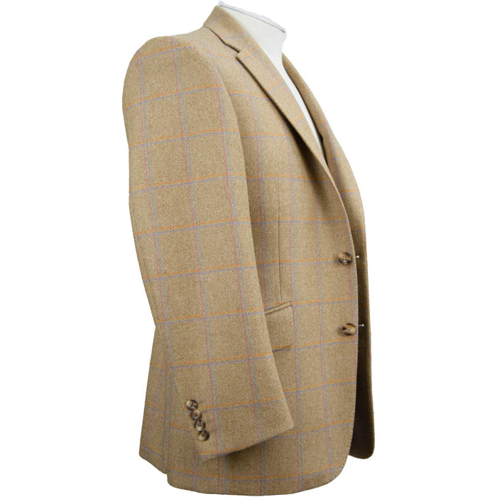 Livingston Lovat Tweed Limited Edition Window Check Jacket - Butterscotch