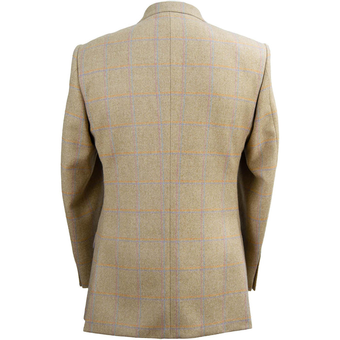 Livingston Lovat Tweed Limited Edition Window Check Jacket - Butterscotch - Livingston - Castle Douglas
