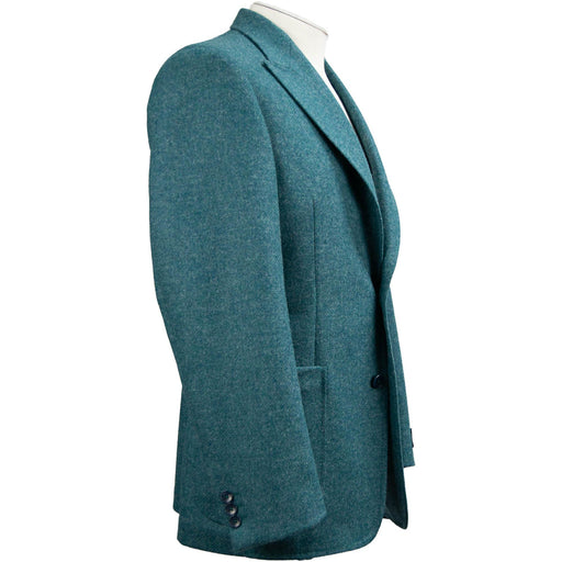 Livingston Moons Tweed Unconstructed Jacket - Petrol - Livingston - Castle Douglas