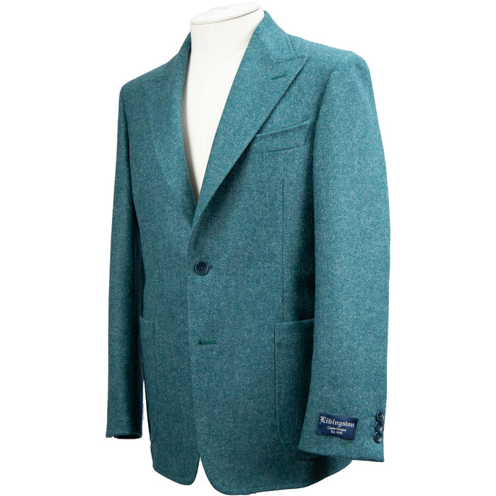 Livingston Moons Tweed Unconstructed Jacket - Petrol