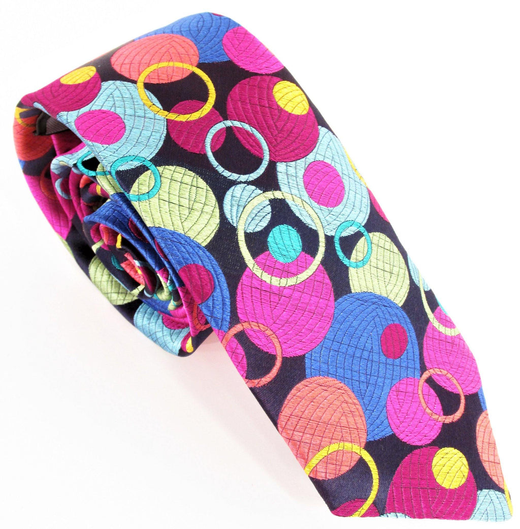 Van Buck Limited Edition Tie - Pink Multi Bubbles - Livingston - Castle Douglas