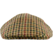 Olney Club Check Tweed Cap - Brown/ Red / Green - Livingston - Castle Douglas