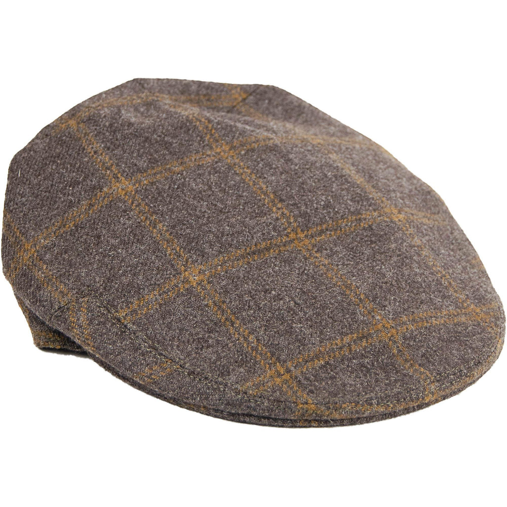 Olney Tweed Cap - Brown Check - Livingston - Castle Douglas