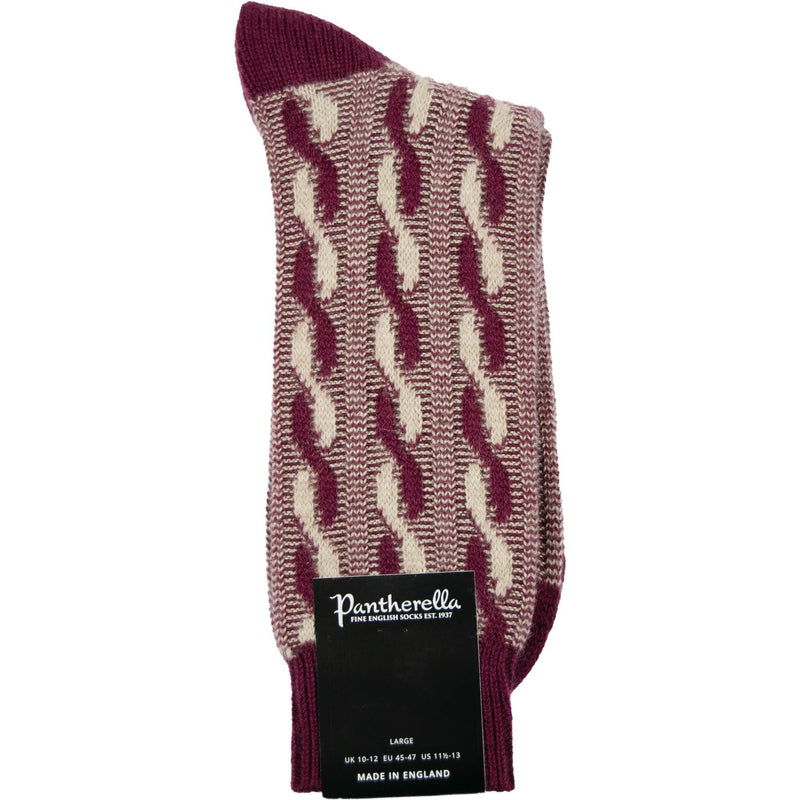 Pantherella Cashmere Socks - Port / Beige - Livingston - Castle Douglas