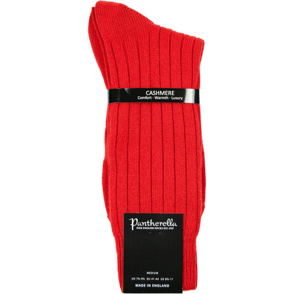 Pantherella Cashmere Socks - Red