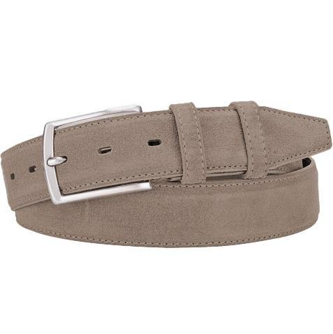 Classic Suede Belt - Taupe