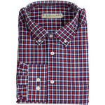 R M Williams Collins Check Shirt - Red & Navy - Livingston - Castle Douglas