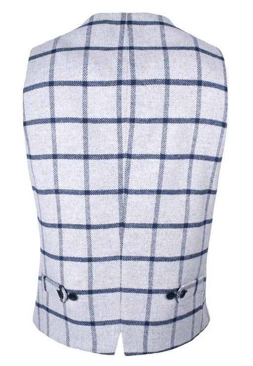 Roy Robson Waistcoat- Silver / Navy Window - Livingston - Castle Douglas