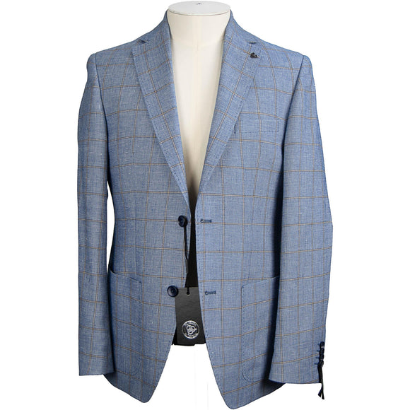 Roy Robson Wool & Linen Jacket - Blue / Brown