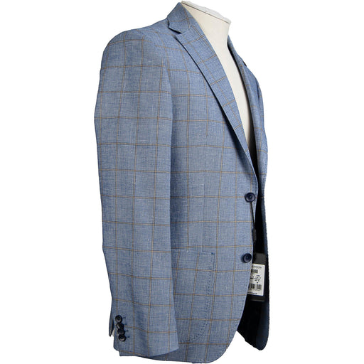 Roy Robson Wool & Linen Jacket - Blue / Brown - Livingston - Castle Douglas