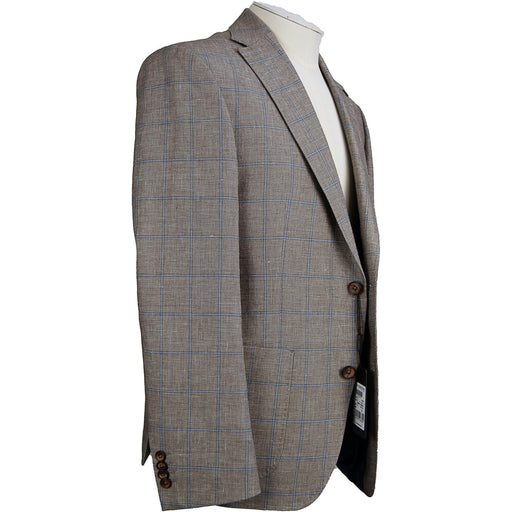 Roy Robson Wool & Linen Jacket - Brown / Blue - Livingston - Castle Douglas