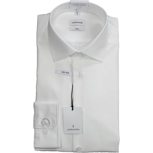 Siedensticker Slim Fit Shirt (Extra Long Sleeve) - White - Livingston - Castle Douglas