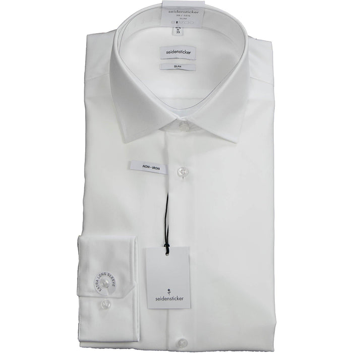 Siedensticker Slim Fit Shirt (Extra Long Sleeve) - White