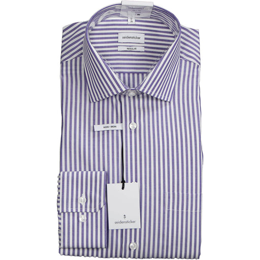 Seidentsticker Striped Shirt - Purple - Livingston - Castle Douglas