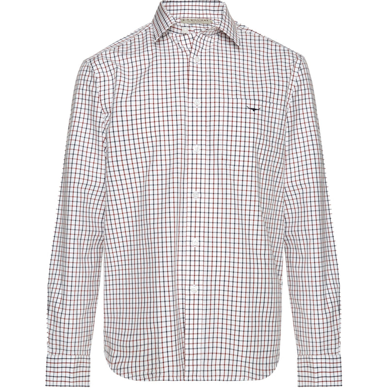 Collins  Check Shirt - White / Blue / Rust