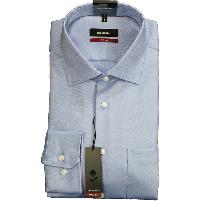 Seidensticker Textured Shirt - Pale Blue