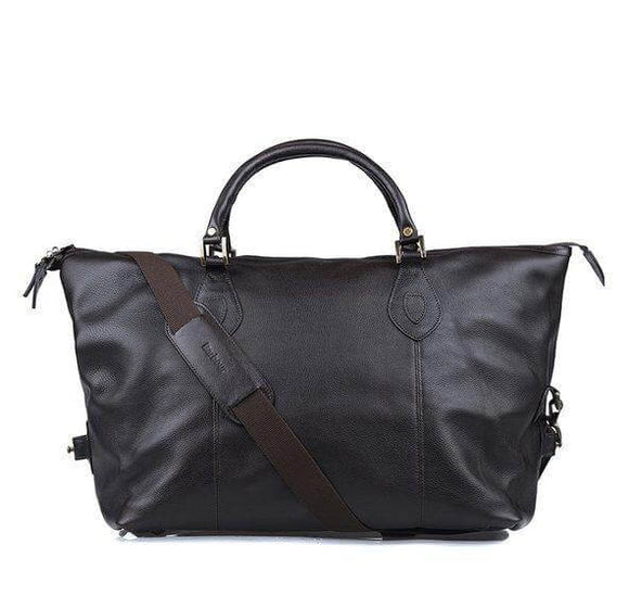 Barbour Leather Holdall - Chocolate