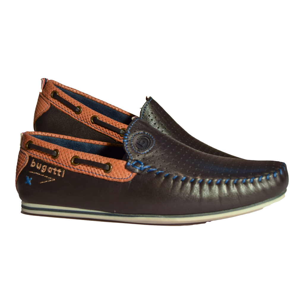 Bugatti Boat Shoe -Navy - Livingston - Castle Douglas