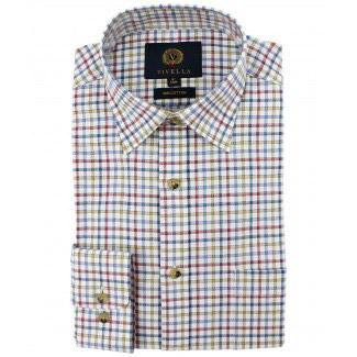 Viyella Tattersall Shirt- Red/Blue/Beige
