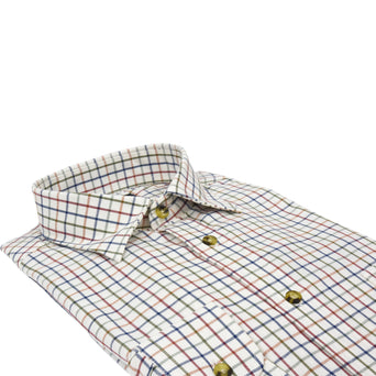 Viyella 80/20 Tattersall Shirt - Multi - Livingston - Castle Douglas