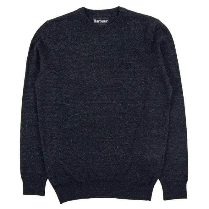 Barbour Linen Mix Crew Neck Pullover - Indigo - Livingston - Castle Douglas