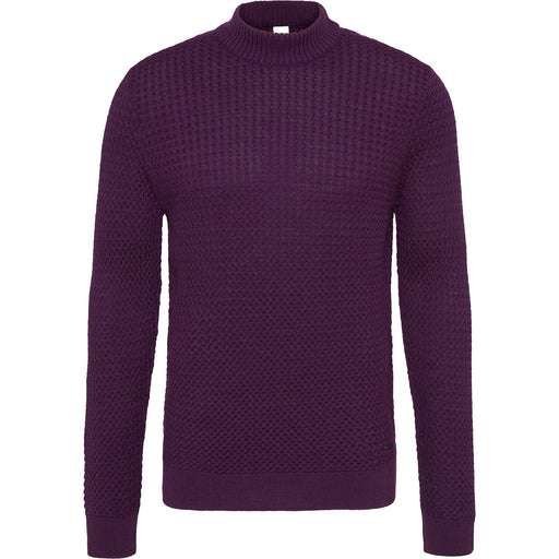 Bugatti Turtleneck Pullover - Aubergine - Livingston - Castle Douglas