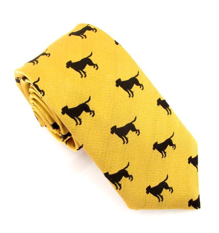 Van Buck Silk Sporting Tie - Gun Dog Gold - Livingston - Castle Douglas