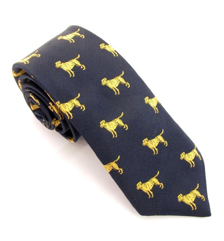 Van Buck Silk Sporting Tie - Gun Dog Navy - Livingston - Castle Douglas