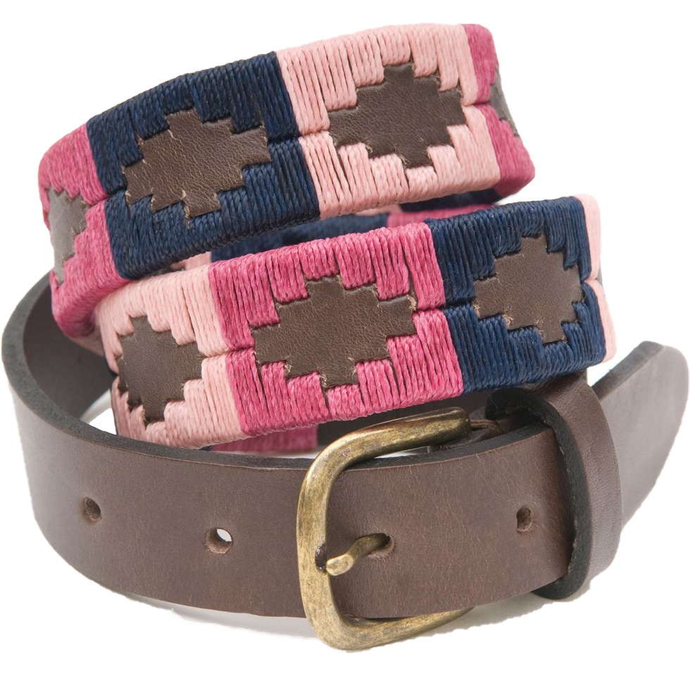 Pioneros Polo Belt Berry, Navy & Pink