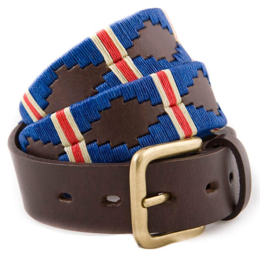 Pioneros Polo Belt - Royal, Red Stripe - Livingston - Castle Douglas