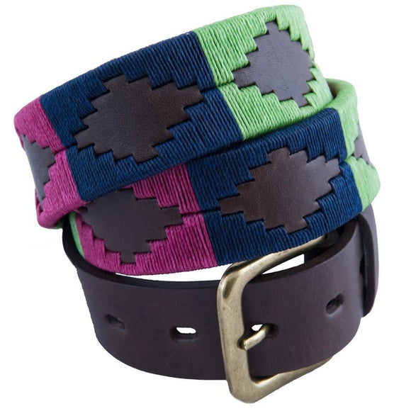 Pioneros Polo Belt Berry, Navy & Green