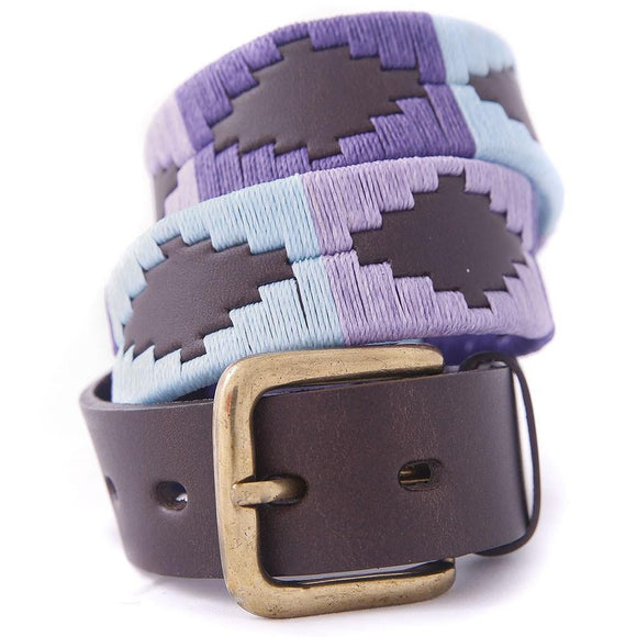 Pioneros Polo Belt Sky Blue, Purple & Violet