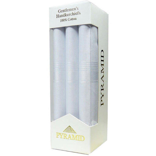 Pyramid Handkerchiefs 3 Pack - White - Livingston - Castle Douglas